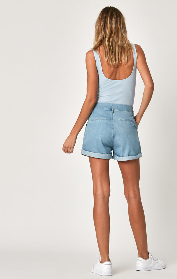 LAYLA SHORTS IN LIGHT BLUE SUMMER DENIM - Mavi Jeans