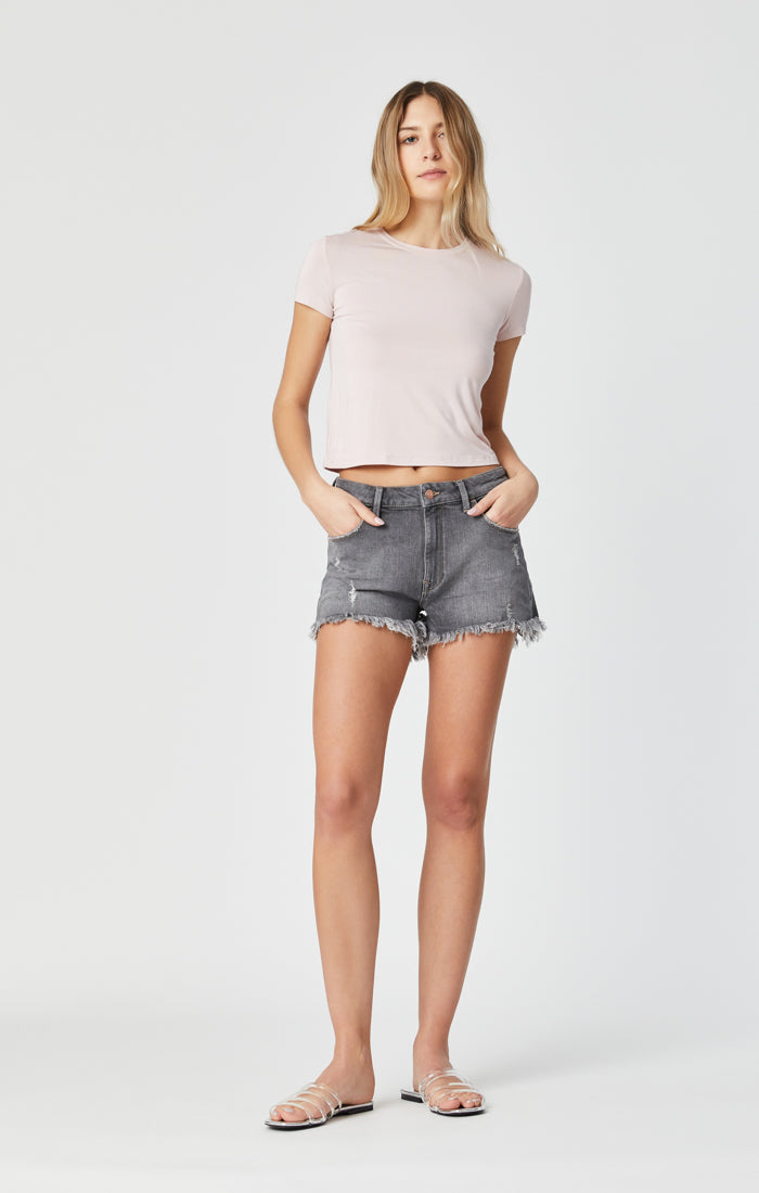ROSIE SHORTS IN MID GREY LONDON STRETCH - Mavi Jeans