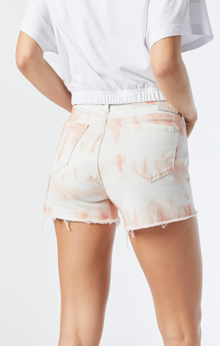 ROSIE BOYFRIEND SHORT IN PALE BLUSH BATIK - Mavi Jeans