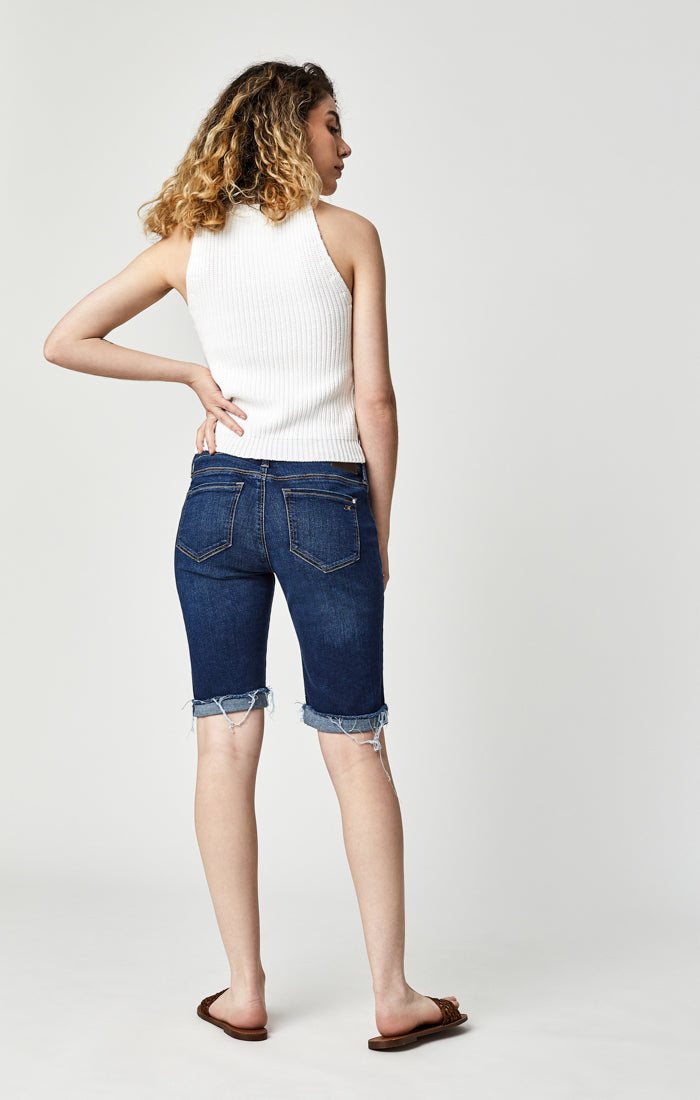 KARLY BERMUDA SHORTS IN DEEP BLUE TRIBECA - Mavi Jeans