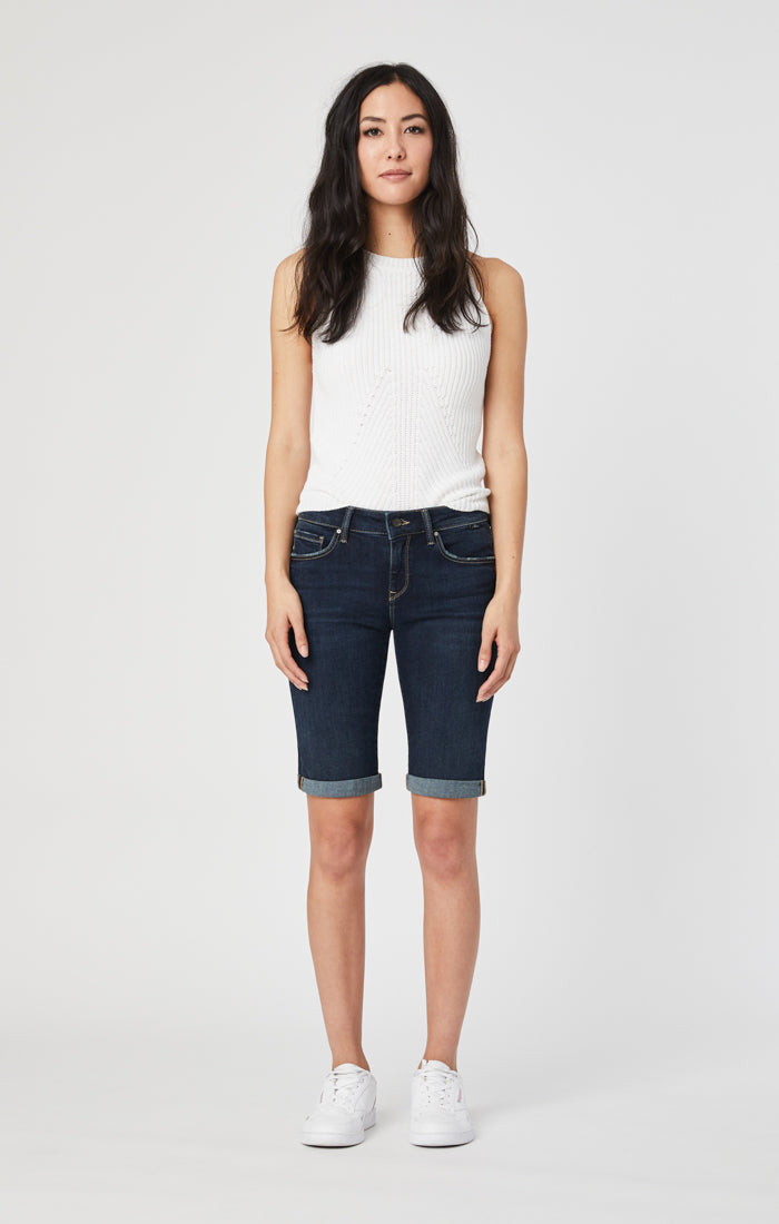 KARLY BERMUDA SHORTS IN DEEP TRIBECA - Mavi Jeans