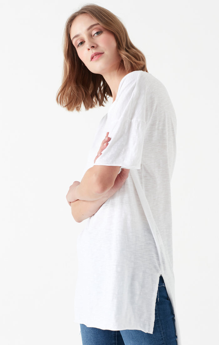 RUTH LONG T-SHIRT IN WHITE - Mavi Jeans