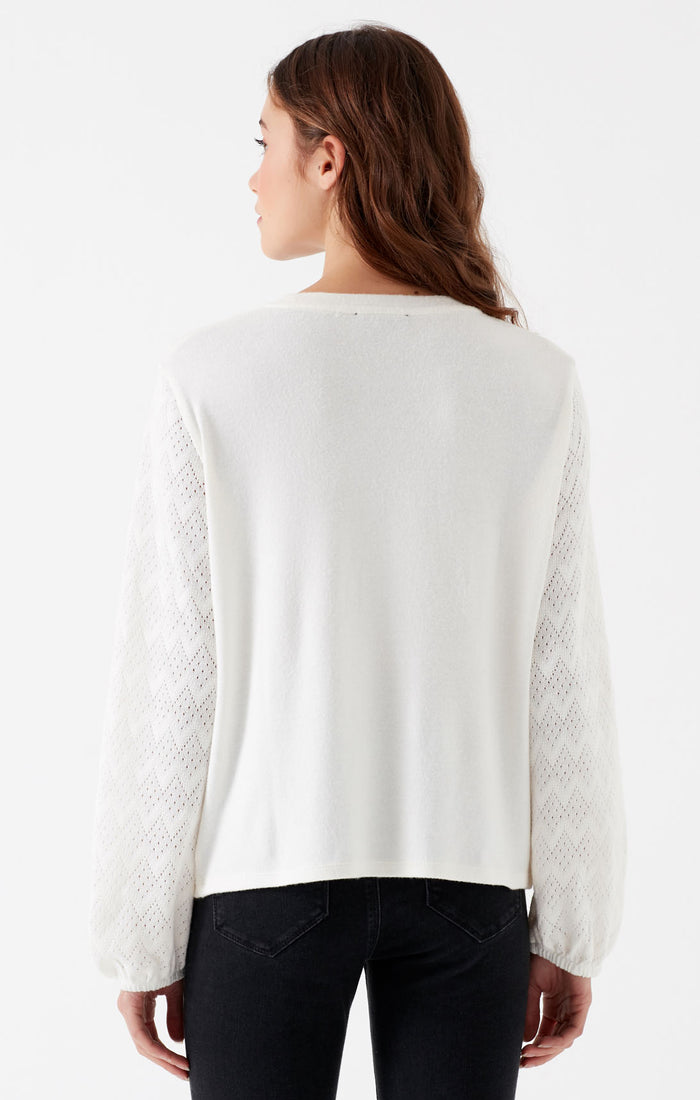 JEANNE RELAXED FIT LONG SLEEVE SHIRT IN OFF WHITE - Mavi Jeans
