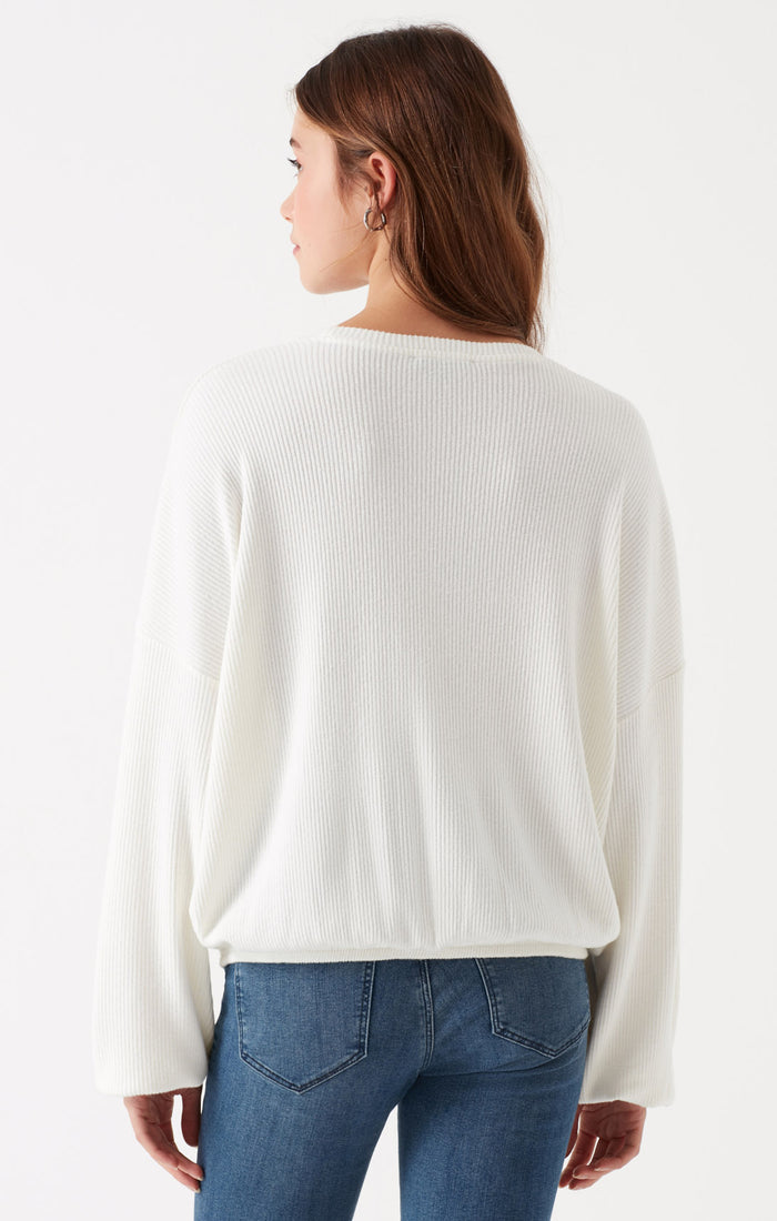NANCY BALLOON SLEEVE TOP IN CREAM - Mavi Jeans