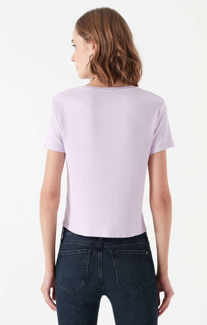 HOPE SLIM FIT CREWNECK T-SHIRT IN PASTEL PURPLE - Mavi Jeans