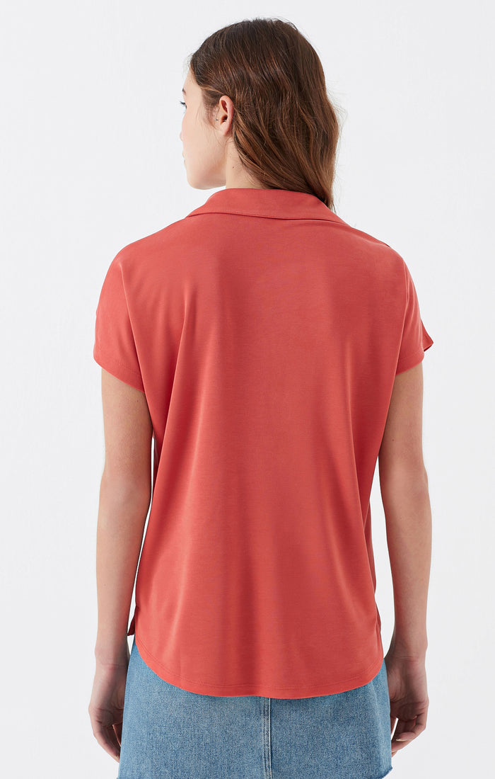 GAIL POLO T-SHIRT IN CORAL - Mavi Jeans