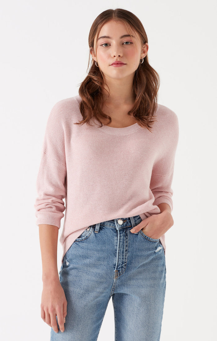 NADA CREWNECK SWEATER IN PALE PINK - Mavi Jeans