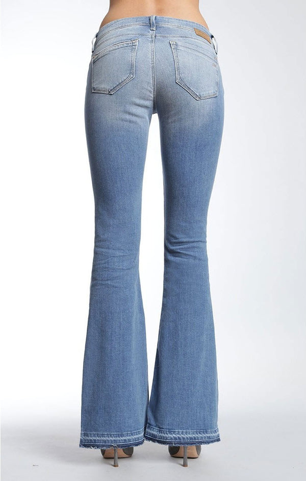 PEACE FLARE JEANS IN LIGHT RIPPED - Mavi Jeans