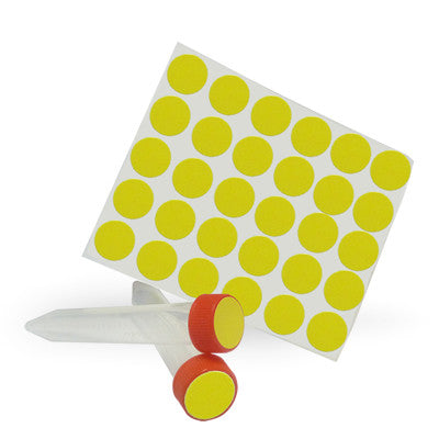 Dot Labels Sheets 3/4″ Diam. – Yellow - Uniscience Corp.