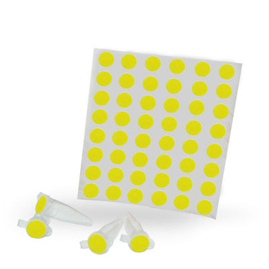 Dot Labels Sheets 1/4″ Diam. – Yellow - Uniscience Corp.