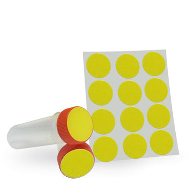 Dot Labels Sheets 1-1/4″ Diam. – Yellow - Uniscience Corp.