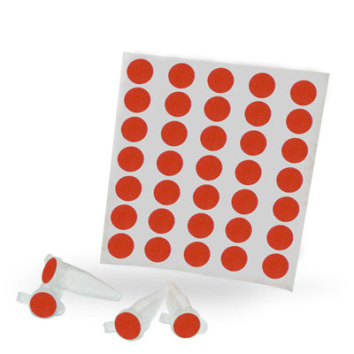 Dot Labels Sheets 1/2″ Diam. – Red - Uniscience Corp.