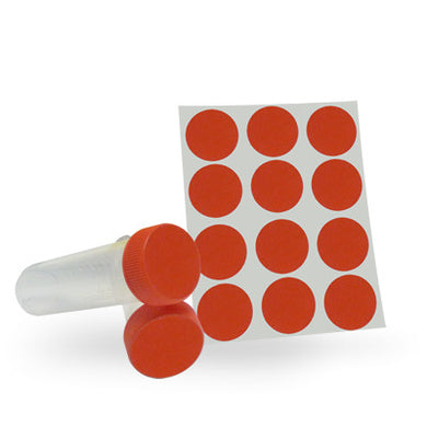 Dot Labels Sheets 1-1/4 Diam. - Red - Uniscience Corp.