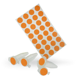 Dot Labels Sheets 7/16″ Diam. – Orange - Uniscience Corp.
