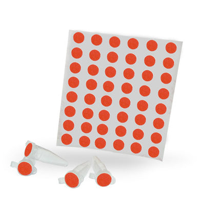 Dot Labels Sheets 1/4″ Diam. – Red - Uniscience Corp.