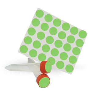 Dot Labels Sheets 3/4″ Diam. – Green - Uniscience Corp.