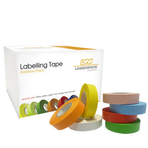 1/2 X 500 Labeling Tape – Rainbow Pack - Uniscience Corp.