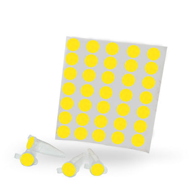 Dot Labels Sheets 1/2″ Diam. – Yellow - Uniscience Corp.