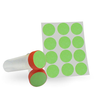 Dot Labels Sheets 1-1/4″ Diam. – Green - Uniscience Corp.