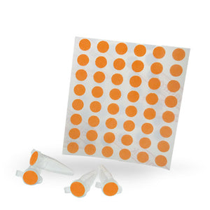 Dot Labels Sheets 1/4″ Diam. – Orange - Uniscience Corp.