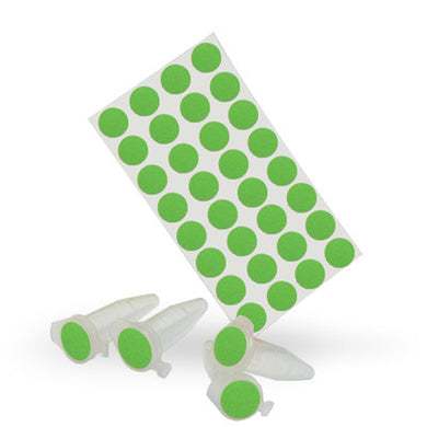 Dot Labels Sheets 7/16″ Diam. – Green - Uniscience Corp.