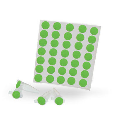 Dot Labels Sheets 1/2″ Diam. – Green - Uniscience Corp.