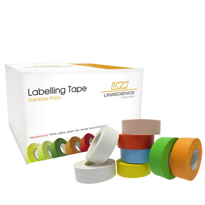 3/4 X 500 Labeling Tape – Rainbow Pack - Uniscience Corp.