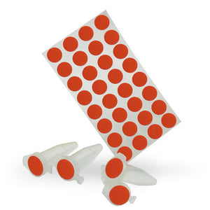 Dot Labels Sheets 7/16″ Diam. – Red - Uniscience Corp.