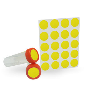 Dot Labels Sheets 1″ Diam. – Yellow - Uniscience Corp.