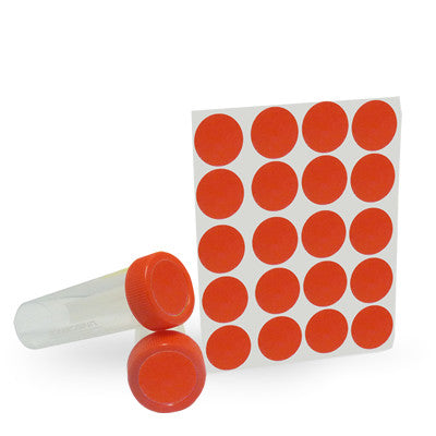 Dot Labels Sheets 1″ Diam. – Red - Uniscience Corp.