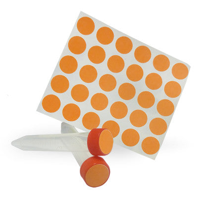 Dot Labels Sheets 3/4″ Diam. – Orange - Uniscience Corp.