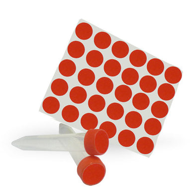 Dot Labels Sheets 3/4″ Diam. – Red - Uniscience Corp.