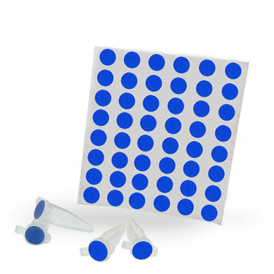 Dot Labels Sheets 1/4″ Diam. – Dark Blue - Uniscience Corp.