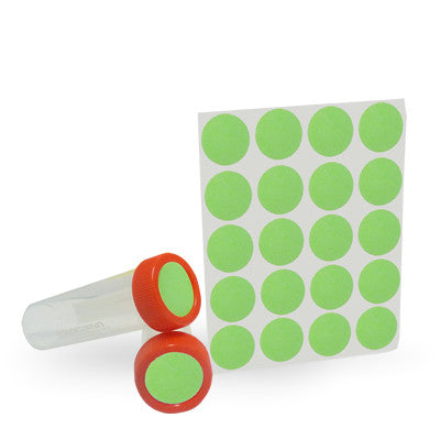 Dot Labels Sheets 1″ Diam. – Green - Uniscience Corp.