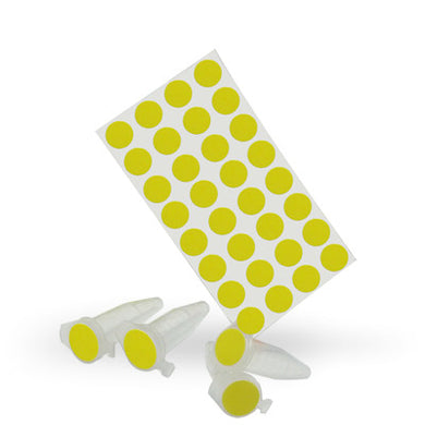 Dot Labels Sheets 7/16″ Diam. – Yellow - Uniscience Corp.