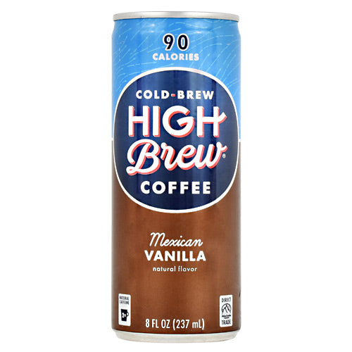 High Brew Coffee Cold Brew Coffee RTD - Mexican Vanilla - 12 Cans - 10854560005015