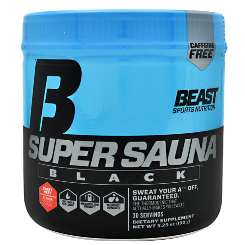 Beast Sports Nutrition Black Super Sauna - Sweet Heat - 30 Servings - 631312702117