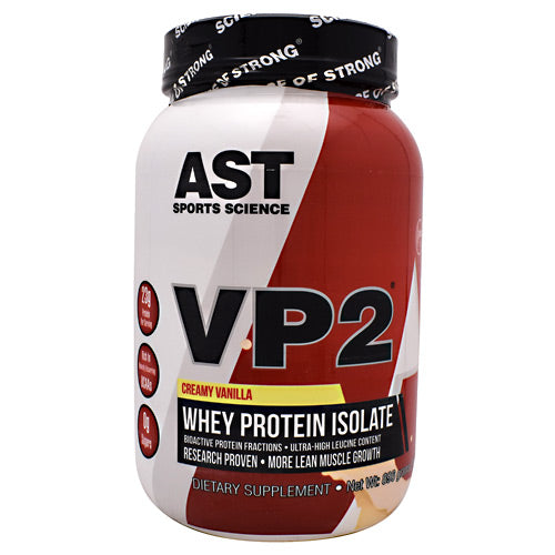 AST Sports Science VP2 Whey Isolate - Creamy Vanilla - 1.98 lb - 705077002826