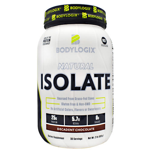 BodyLogix Natural Isolate Protein - Decadent Chocolate - 2 lbs - 694422031409