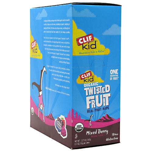 Clif Kid Organic Twisted Fruit - Mixed Berry - 18 ea - 722252380029