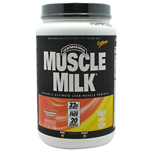 Cytosport Fruit Smoothie Muscle Milk - Strawberry Banana - 2.47 lb - 660726508206