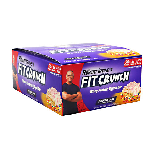 Fit Crunch Bars Fit Crunch Bar - Birthday Cake - 12 Bars - 839138002651