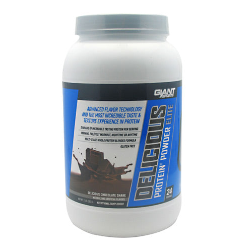 Giant Sports Products Delicious Protein - Delicious Chocolate Shake - 2 lb - 640052143722