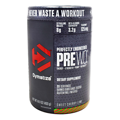 Dymatize Pre W.O. - Sweet Cherry Lime - 20 Servings - 705016171033