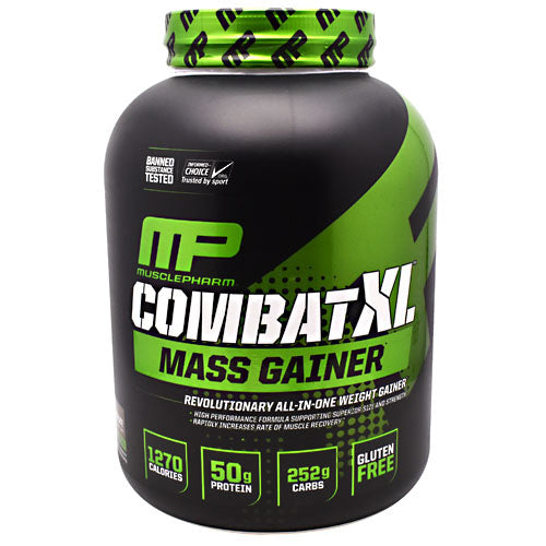 MusclePharm Sport Series Combat XL Mass Gainer - Chocolate - 6 lbs - 653341044518
