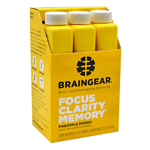 BrainGear BrainGear - Pineapple Mango - 3 Bottles - 864948000139