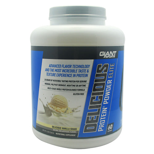 Giant Sports Products Delicious Protein - Delicious Vanilla Shake - 5 lb - 639385330237