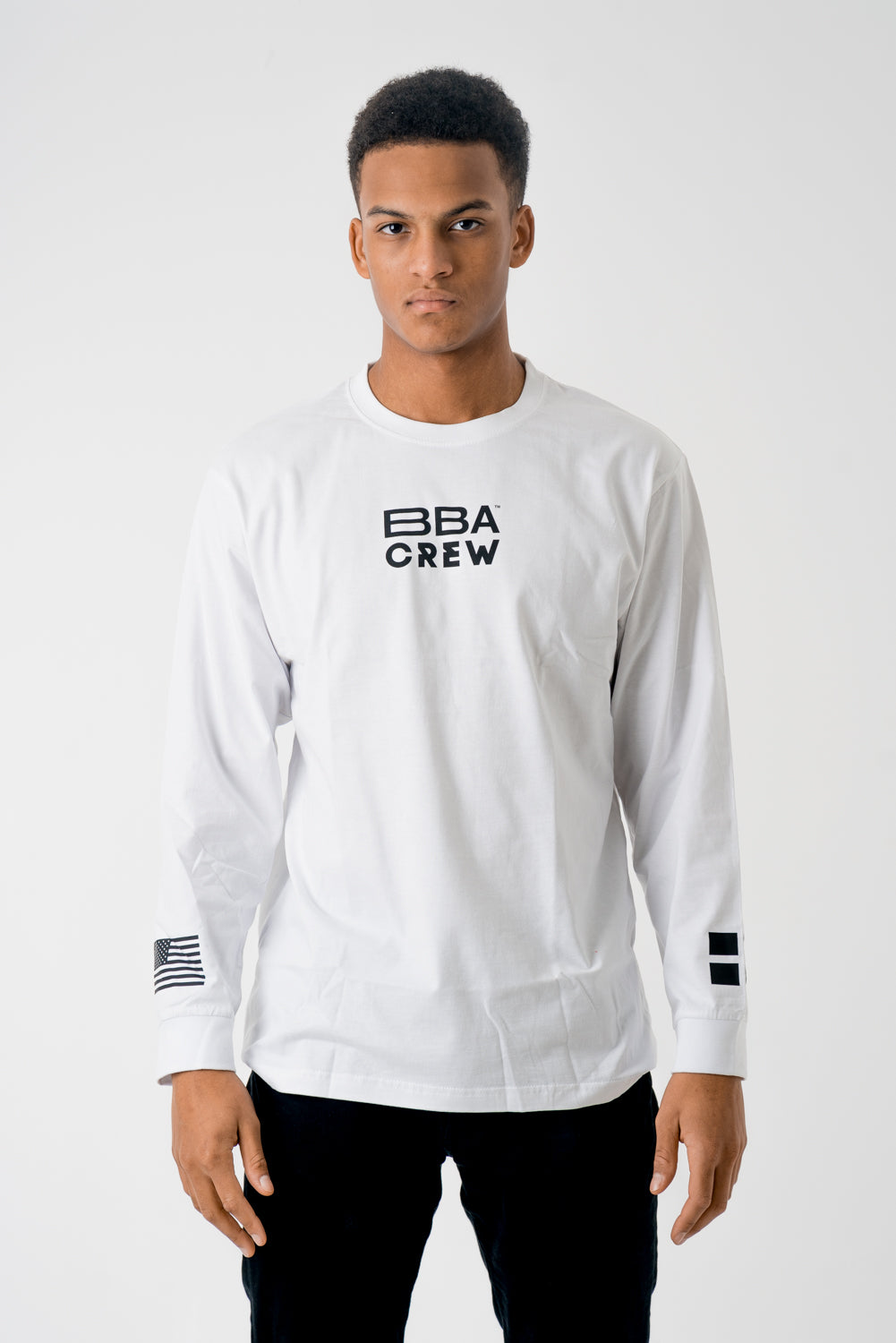 BBA WHITE LONG SLEEVE