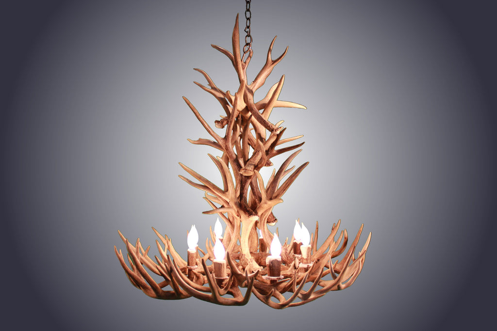 8 Light XL Whitetail Antler Chandelier (AWC-12) - Antlerworx