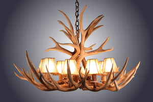 8 light mule deer antler chandelier antlerworx 8 light mule deer antler chandelier awc 4 antlerworx aloadofball Images